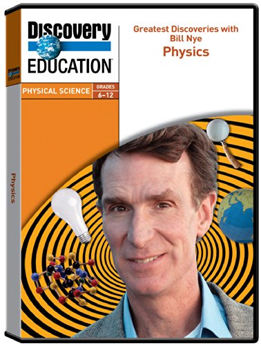 Discovery Education Greatest Discoveries With Bill Nye  Physics Video Dvd