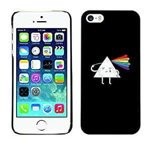 X-ray Impreso colorido protector duro espalda Funda piel de Shell para Apple iPhone 5 / iPhone 5S - Prism Scattered Light Rainbow Clever Cartoon