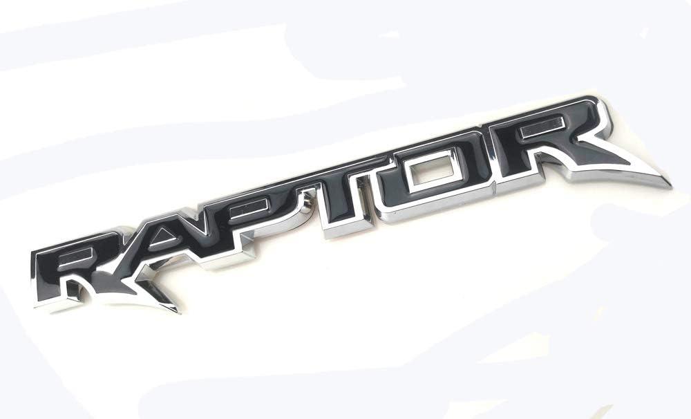 Black Rear RAPTOR Logo Badge Emblem Raptor 3D Replacement For 150 F-150