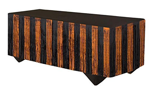 "Forum Novelties 76189 Tinsel Fringe Table Skirt, 144"" x 2..."