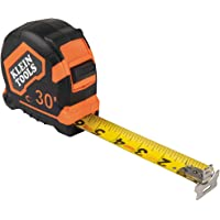 Klein Tools 9230 Tape Measure, 30-Foot Double-Hook Double-Sided Measuring Tape, Magnetic with Retraction Speed Break and…