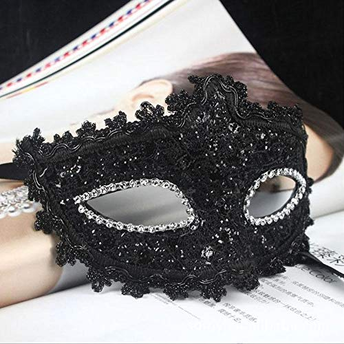 PATY&COSMSK Venetian Lace Crystal Rhinestones Cosplay Mask for Halloween Masquerade Costume Party Gifts