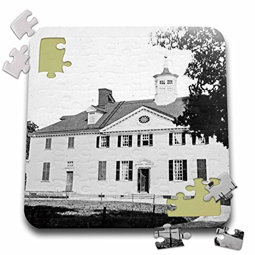 Scenes from the Past Magic Lantern Slides - George Washingtons House Mount Vernon Virginia Circa 1890s - 10x10 Inch Puzzle (pzl_269914_2)
