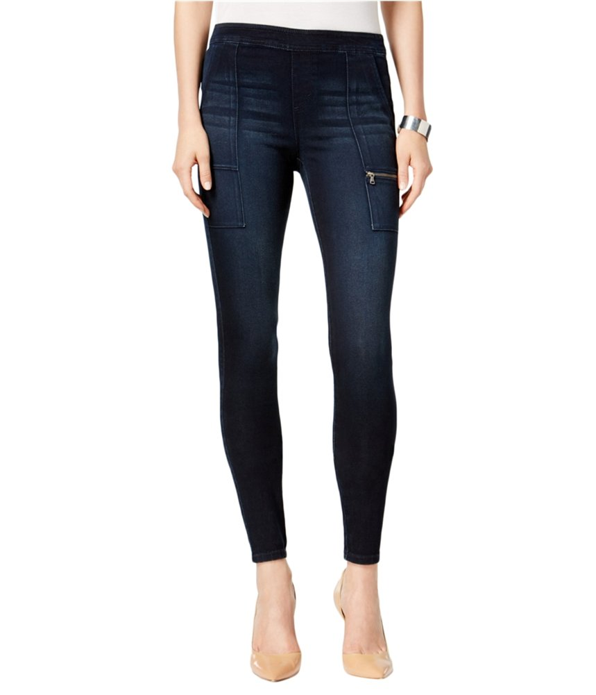 Style & Co. Womens Petites Pull On Cargo Jeggings Denim PS