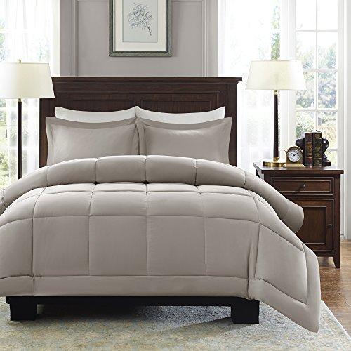 Madison Park Sarasota Microcell Down Alternative Comforter Mini Set, King/California King, Taupe (Fabric Sarasota)