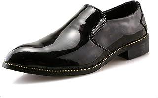 Xiaojuan-shoes, Men 's Oxford Casual Fashion Business Light lumière et Confortable Couleur contrastée en Cuir Verni Chaussures Formelles 2018 Richelieus Homme (Color : Noir, Taille : 41 EU)