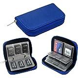 Newsfana Memory Card Carrying Case 4.3x2.5x0.7inch F-082( Blue)