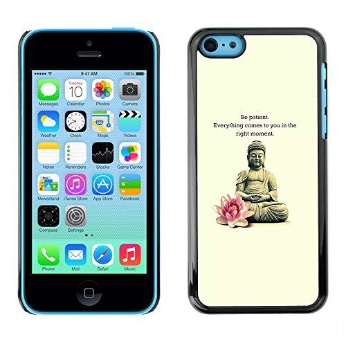 Ziland / Premium Slim HD plastique et d'aluminium Coque Cas Case Drapeau Cover / Flower Meditation Quote / Apple iPhone 5C
