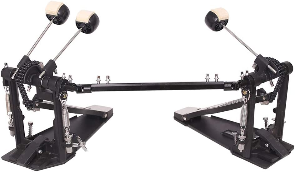 Double Bass Pedal Professional Adjustable Kick Drum Treadle for Jazz Rock Metal Music Lover Adult