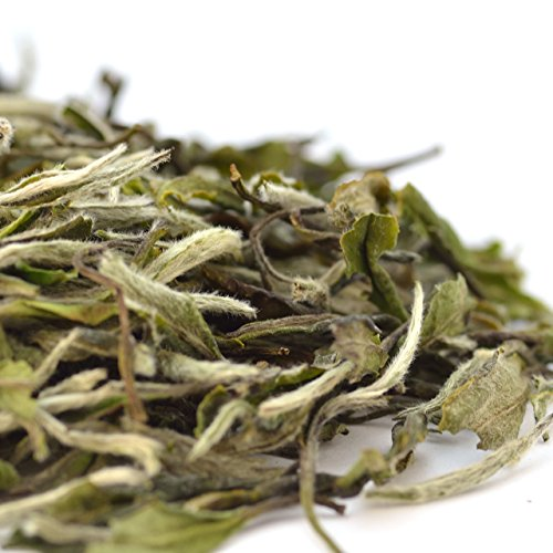 Teavivre Organic White Peony (Bai MuDan) Tea Loose Leaf Chinese White Tea (1.75oz/50g)