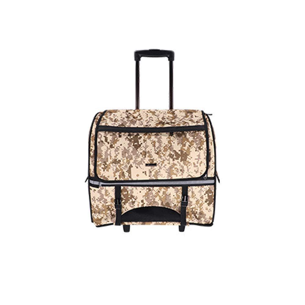 D Pet Travel Bag Multi-function Pet Trolley Case Breathable Double Shoulder Bag Pet Dog Backpack Pet Out Trolley Bag,D