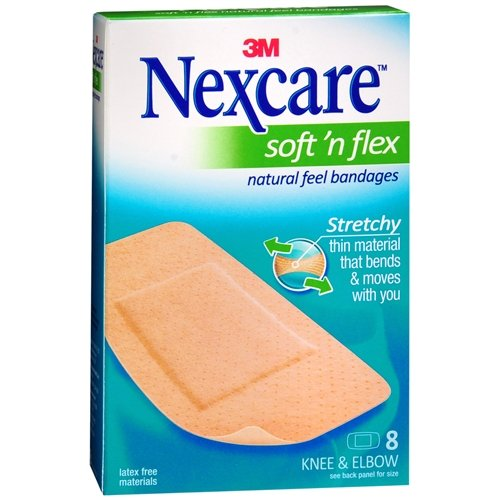 Nexcare Comfort Flexible Fabric Bandage, Knee and Elbow 8...