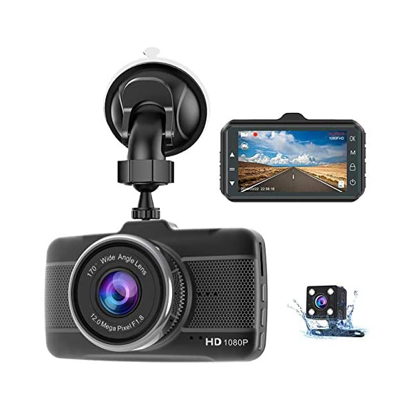 Dash Cam Front and Rear Claoner FHD 1080P Dual Dash Cam Backup Car Camera with Night...