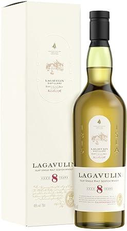 Lagavulin 8 Años de Edad Islay Single Malt Whisky Escocés - 700 ml