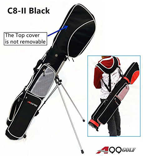C8-II Golf Practice Range/ Sunday/ Stand/ Pencil/ Carry Bag (Black)