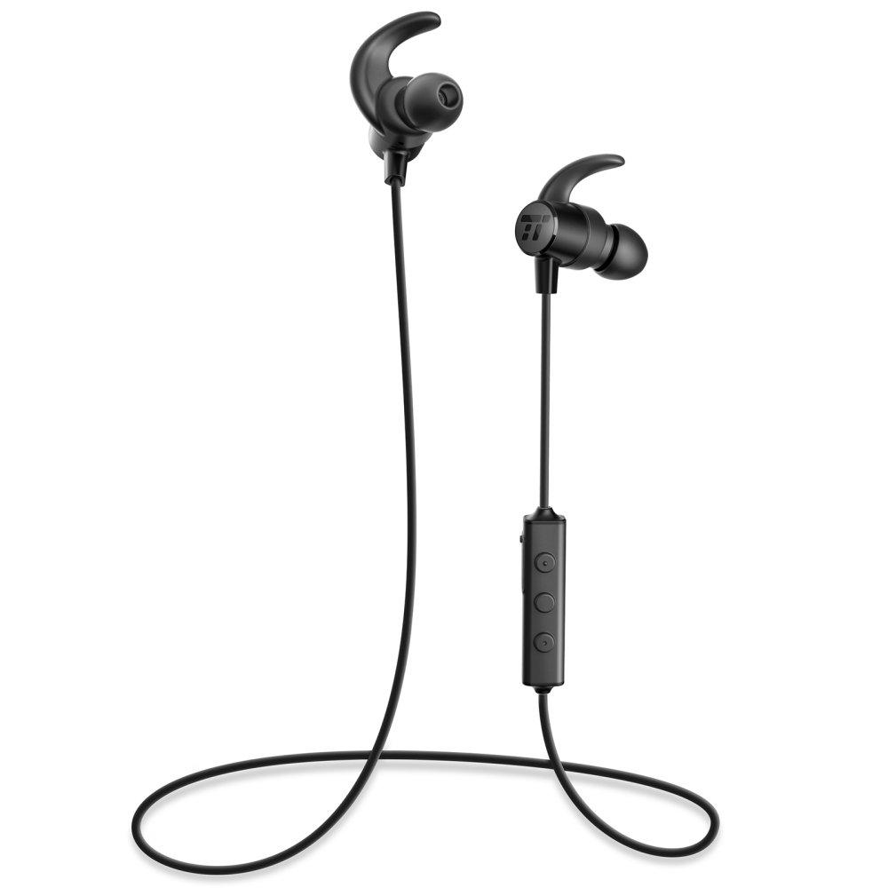 TaoTronics - Auriculares inalámbricos bluetooth 4.1 con aptX, estanqueidad IPX5, 7 horas en llamada, imanes integrados (auriculares estéreo de deporte ...