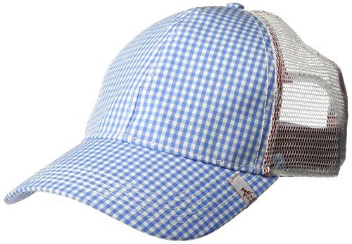 Original Penguin Men's Gingham Mesh Back Baseball Cap, Light Blue, One Size