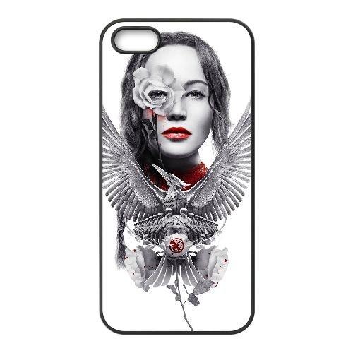 U2G26 les jeux de la faim Katniss large U7I5QK coque iPhone 5 5s cellule de cas de téléphone couvercle coque noire WY1VON4FH