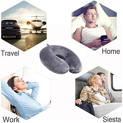 cuscino di supporto per collo in schiuma di memoria super morbida per viaggiare // TV // lettura grigio 30X 30X 11 cm Wuke tree Cuscino di supporto per collo da viaggio grigio