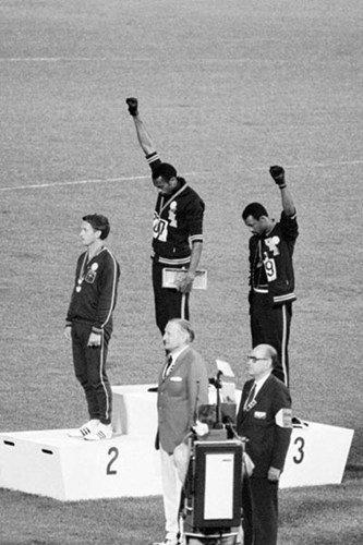 Buyartforless Mexico Olympics 1968 Black Power Salute 36x24 Tommie Smith John Carlos Historic Art Print Poster