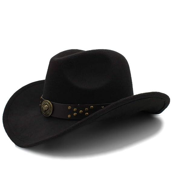 ... Cappelli da Uomo Cappelli Western Cowgirl Cowgirl Unisex Cappelli in  Feltro Jazz (Colore   Rosa Rossa 1530ef7cd00a