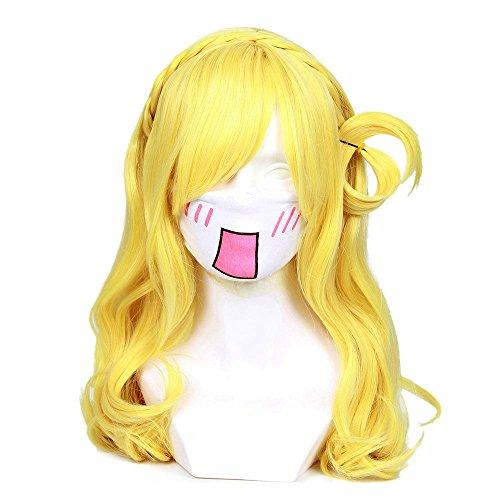 Cfalaicos Love Live Sunshine Yellow Ohara Mari Cosplay Wig