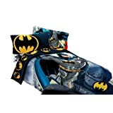Batman Full Bed Sheet Set Rooftop Superhero Bedding