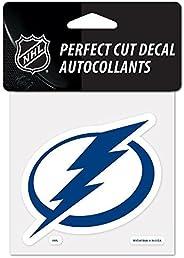 "NHL Tampa Bay Lightning 21964011 Perfect Cut Color Decal, 4"" x 4"", Black b"