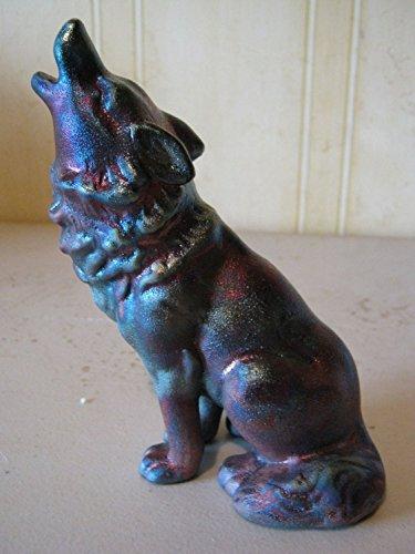 Wolf Figurine Raku Ceramic Pottery Op003l