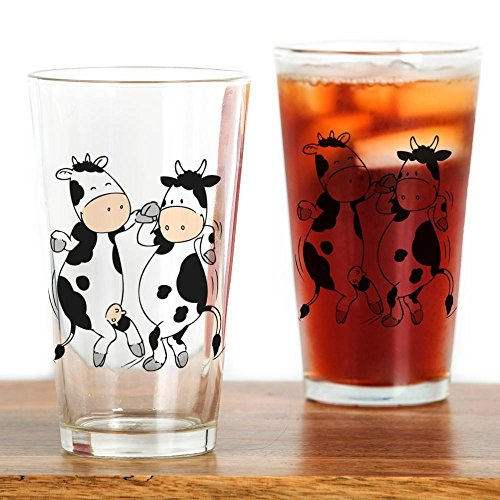 CafePress Mooviestars - Dancing Cows Pint Glass, 16 oz. Drinking Glass