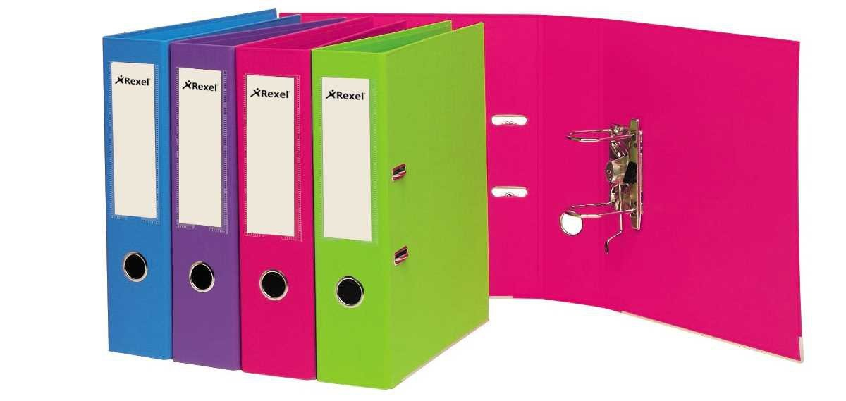 Amazon.com : Rexel Joy 75 mm A4 Lever Arch File - Pretty Pink ...