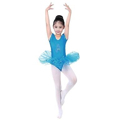 d7684936b679 Amazon.com  G-real Toddler Baby Girl Solid Ballet Gauze Leotards ...