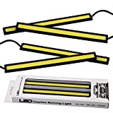LEDKINGDOMUS 4PCS Waterproof Car COB LED 12V Lights High Power DRL Daytime Running Fog Driving White Lamp