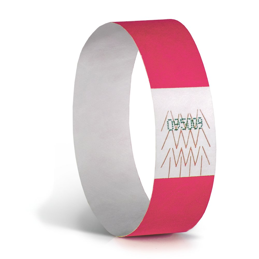 Pack of 1000 Neon Green, 3//4 Concept Wristbands: Tyvek Wristband