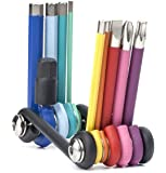 Kikkerland CD120 Rainbow Compact Multi Tool Multi Tool - 7 Tools in 1