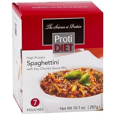 ProtiDiet Spaghettini with Soy Chunk Sauce Mix - 7 pouches - Net Wt 10.1 oz.