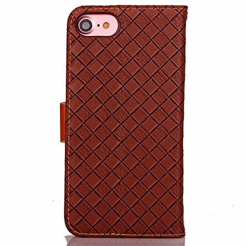 Funda Libro para iPhone 8,Manyip Suave PU Leather Cuero Con Flip Cover, Cierre Magnético, Función de Soporte,Billetera Case con Tapa para Tarjetas, Funda iPhone 8 B