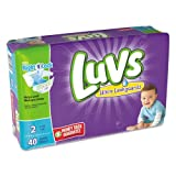Health & Personal Care : PROCTER amp; GAMBLE - DIAPERS,LUVS,S2,2/40CT