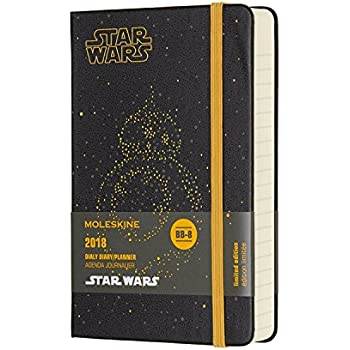 Moleskine Limited Edition Star Wars, 12 Month Daily Planner, Pocket, BB-8 (3.5 x 5.5)
