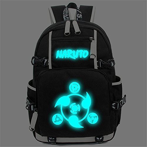 Siawasey Anime Naruto Cosplay Luminous Bookbag Backpack S...