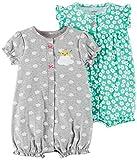 Carter's Baby Girls' 2-Pack Romper, Mint