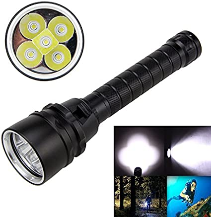 Scuba Diving Flashlight 100m XM-T6 Torch LED lamp Night Fishing Waterproof Lamp