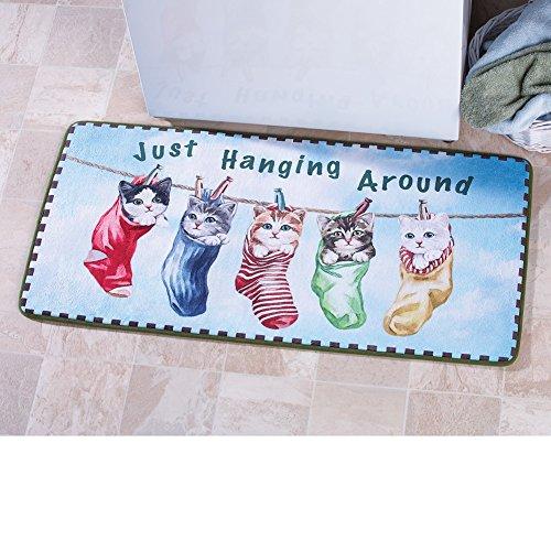[해외]빨랫줄 새틴 세탁 참신 매트/Clothesline Kitten Laundry Novelty Mat