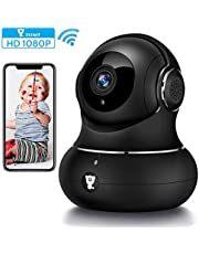 littlelf WiFi IP Camera 1080P,Indoor Security Camera with Night Vision/Two Way Audio/Motion Detection Pan/Wireless Surveillance Camera for Baby/Pet/Elder Monitor