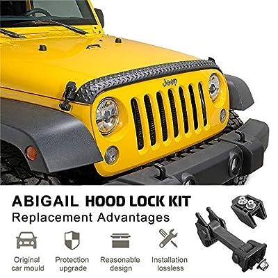 A ABIGAIL TJ Hood Latch Hood Lock Catch Aluminum Hood Latches Catch Kit Fit for 2007-2016 Jeep Wrangler TJ Accessories Latches Catch Set Kit: Automotive