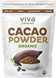 Viva Naturals #1 Best Selling Certified Organic Cacao Powder from Superior Criollo Beans, (1 LBS 2 Bag)