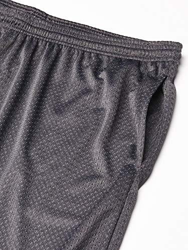 Champion  Men's Long Mesh Short With Pockets,Granite Heather,MEDIUM