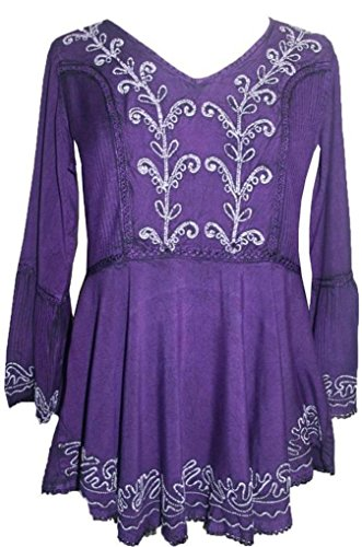 133-B-Agan-Traders-Medieval-Embroidered-Medieval-Tunic-Top-Blouse