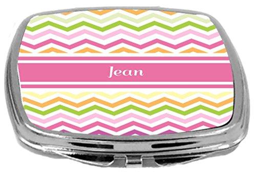 Rikki Knight Pink Chevron Name Design Compact Mirror, Jea...