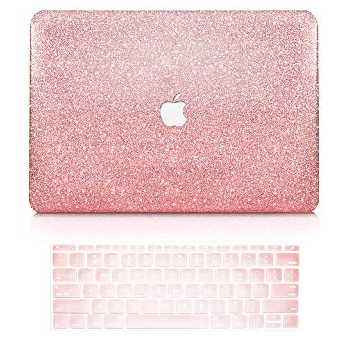 TOP CASE - 2 in 1 Bundle Deal Rubberized Hard Case + Keyboard Cover for New MacBook Pro 13